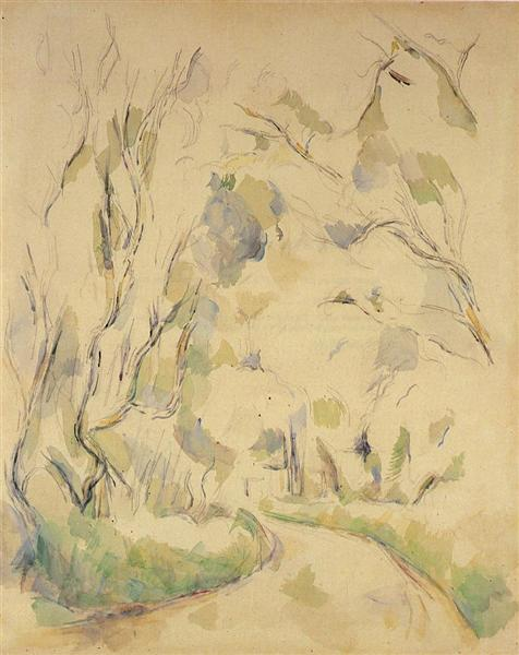 Well by the Winding Road in the Park of Chateau Noir, c.1900 - Paul Cézanne