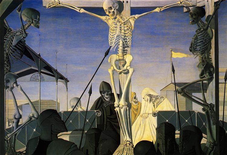 Crucifixion, 1952 - Paul Delvaux