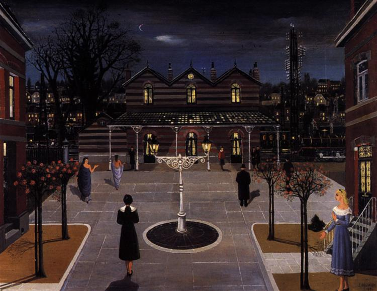 Small square station, 1963 - Paul Delvaux