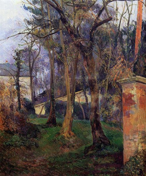 Abandoned garden in Rouen, c.1884 - Paul Gauguin