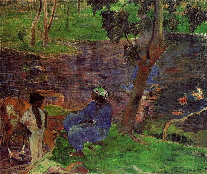 At the pond, 1887 - Paul Gauguin