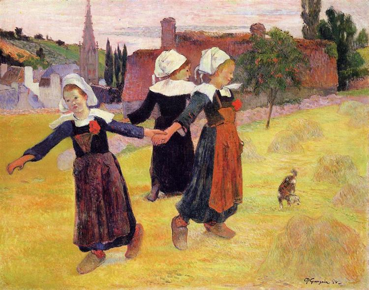 Breton girls dancing, 1888 - Paul Gauguin