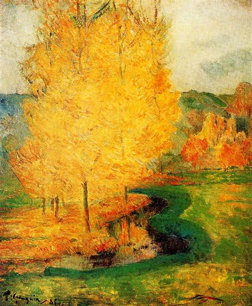 By the Stream, Autumn, 1885 - Paul Gauguin