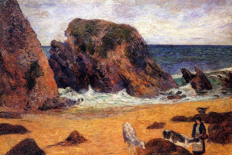 Cows on the Seashore, 1886 - Paul Gauguin