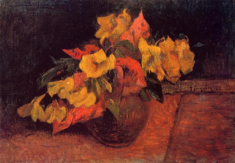 Evening primroses in the vase, 1885 - Paul Gauguin