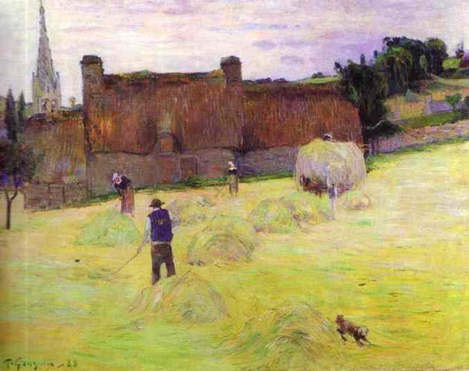 Haymaking in Brittany, 1888 - Paul Gauguin