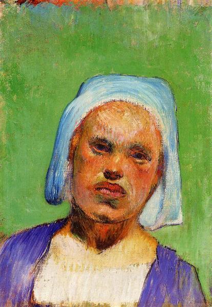 Head of a Breton (Marie Louarn), 1888 - Paul Gauguin