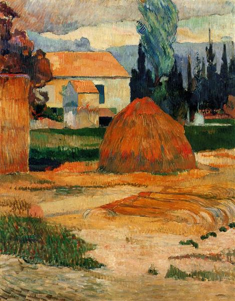 Landscape near Arles, 1888 - Paul Gauguin