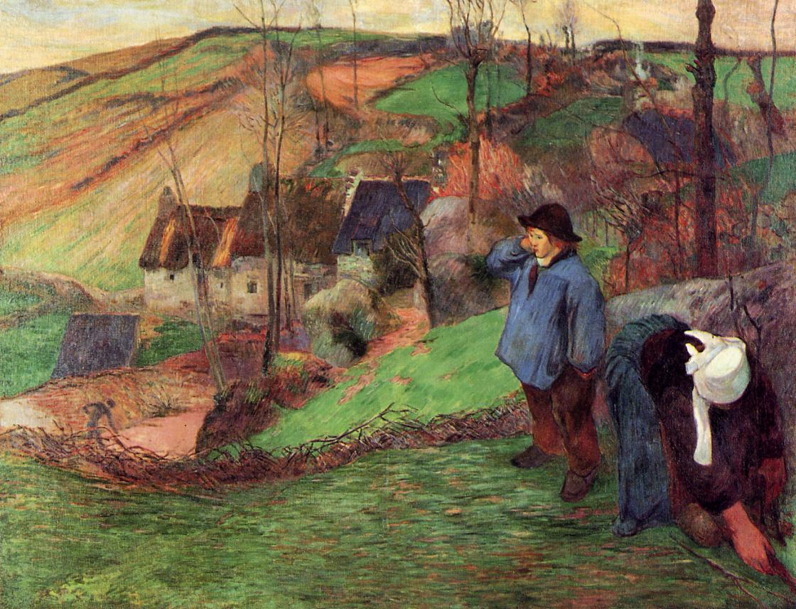 Gauguin Landscape-of-brittany-1888