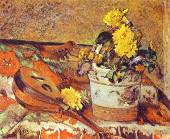 Mandolina and Flowers, 1883 - Paul Gauguin