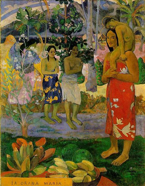 Ia Orana Maria (We Hail Thee Mary), 1891 - Paul Gauguin