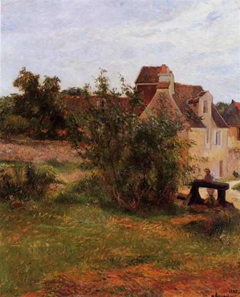 Osny, the gate of Busagny farm, 1884 - Paul Gauguin