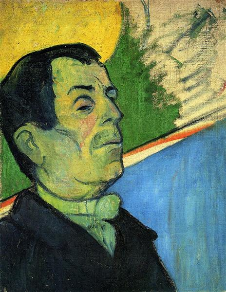Portrait of a man wearing a lavalliere, 1888 - Paul Gauguin
