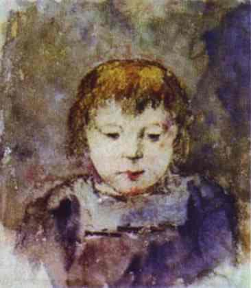 Portrait of Gaugin's daughter Aline, c.1879 - Paul Gauguin