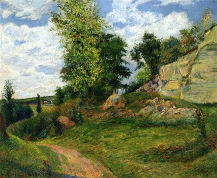 Quarries at Pontoise, 1882 - Paul Gauguin
