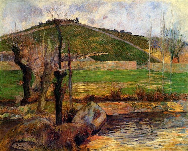 River Aven below moun Saint Marguerite, 1888 - Paul Gauguin