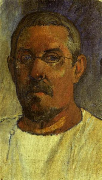 Self portrait with spectacles, 1903 - Paul Gauguin