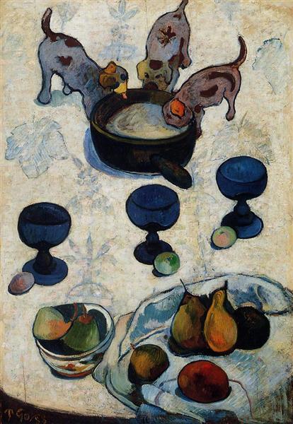 Still Life with Three Puppies, 1888 - Paul Gauguin