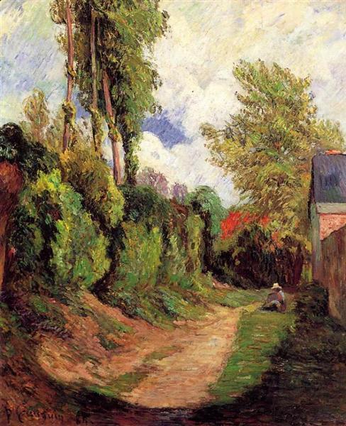 Sunken Lane, 1884 - Paul Gauguin