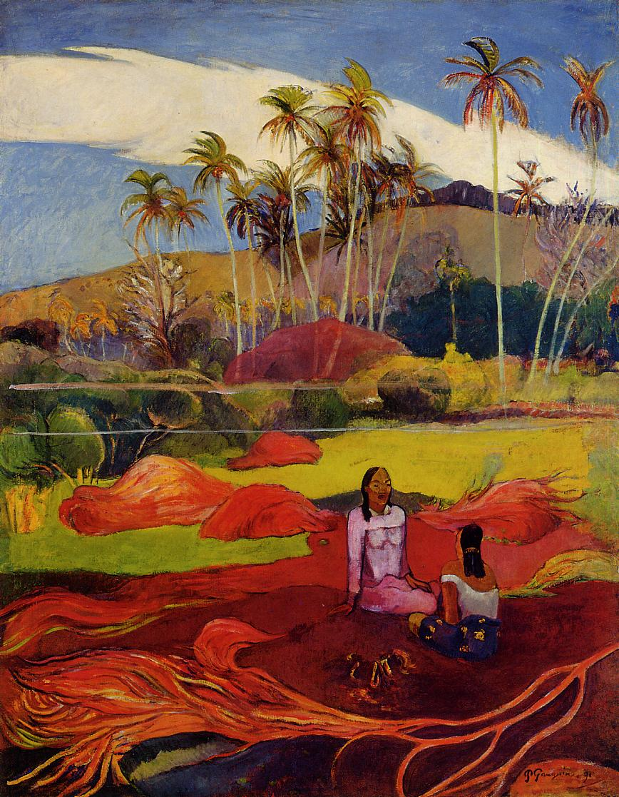 Tahitian women under the palms, 1892 - Paul Gauguin ...