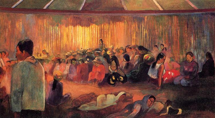 The house of singing, 1892 - Paul Gauguin