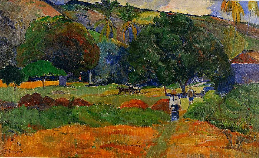 The Little Valley C 1891 Paul Gauguin Wikiart Org