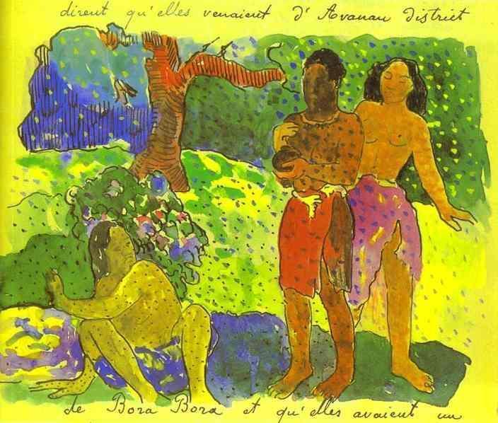 The Messengers of Oro, 1893 - Paul Gauguin
