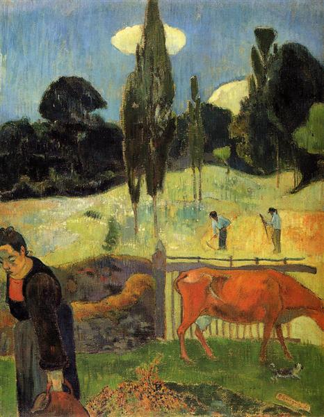 The red cow, 1889 - Paul Gauguin