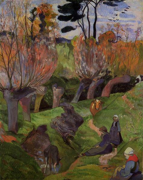 The willows, 1889 - Paul Gauguin
