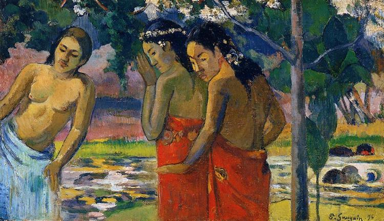Three Tahitian Women, 1896 - Paul Gauguin