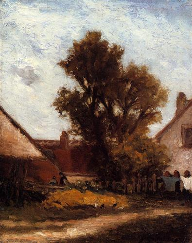 Tree in the farm yard - Paul Gauguin