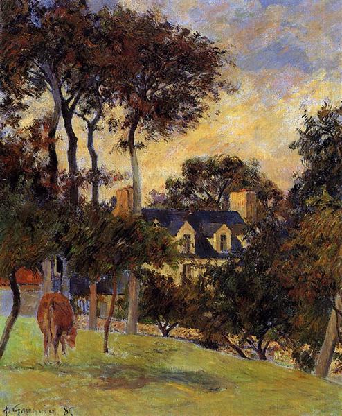 White house, 1885 - Paul Gauguin