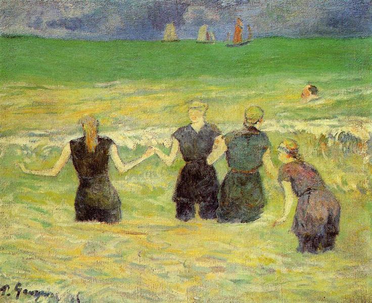 Women bathing (Dieppe), 1885 - Paul Gauguin