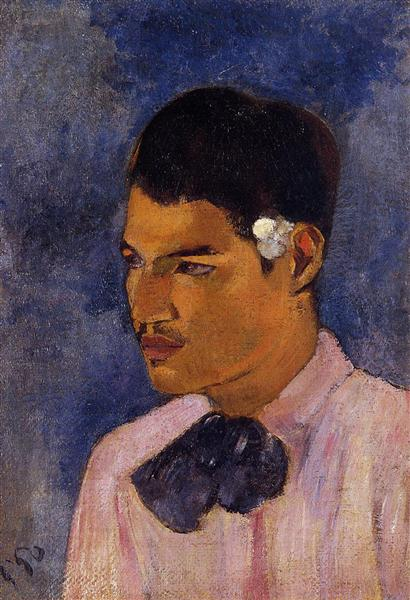 Young Man with a Flower Behind his Ear, 1891 - Paul Gauguin