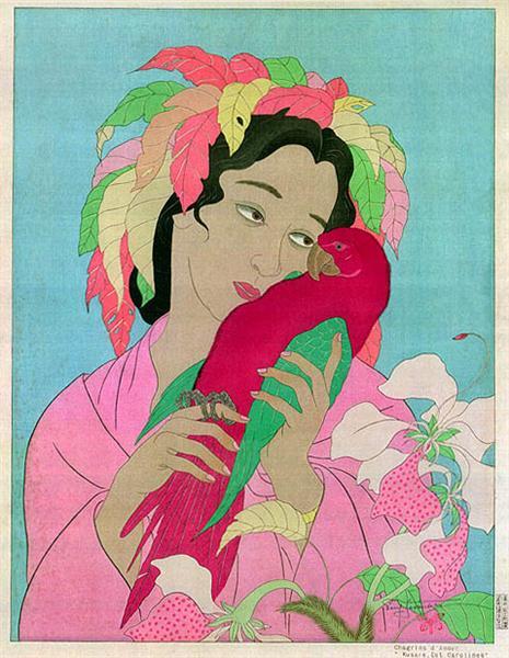 Chagrins D'Amour. Kusaie, Est Carolines, 1940 - Paul Jacoulet