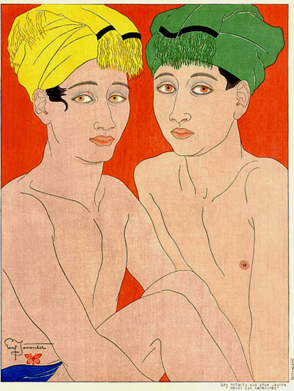 Les Enfants Aux Yeux Jaunes. Ohlol, Est Carolines, 1940 - Paul Jacoulet
