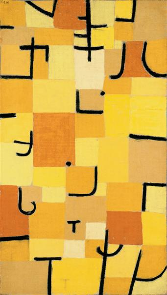 Characters in yellow, 1937 - Paul Klee