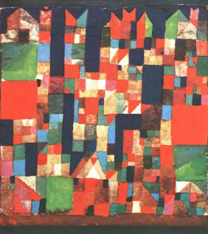 City Picture with Red and Green Accents, 1921 - Paul Klee ...