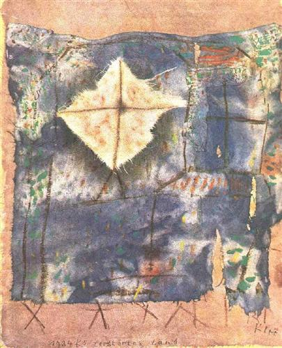 Ravaged Land, by Paul Klee, 1921, Galarie Beyeler (via WikiPaintings)