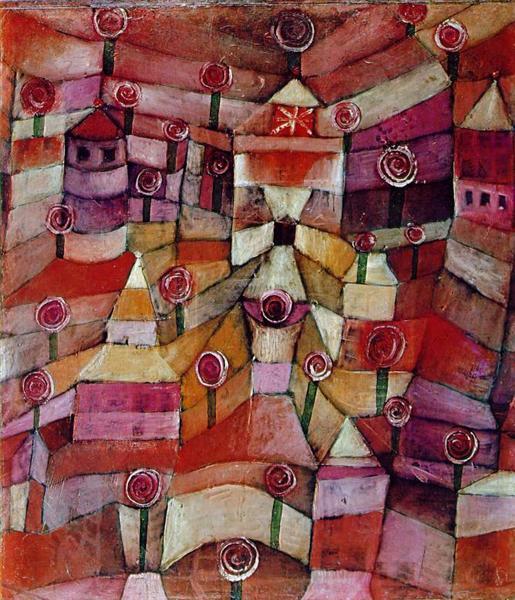 Rose garden, 1920 - Paul Klee