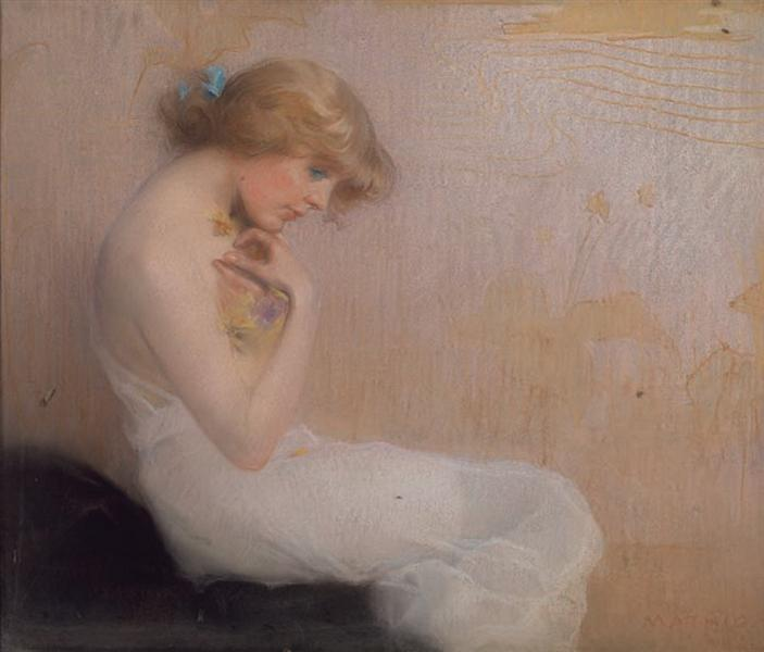 Seated girl - Paul Mathiopoulos