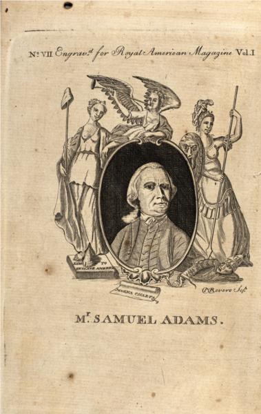 Samuel Adams, 1774 - Paul Revere