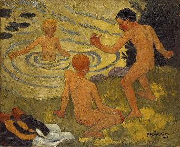 Boys on a River Bank, 1906 - Поль Серюзье