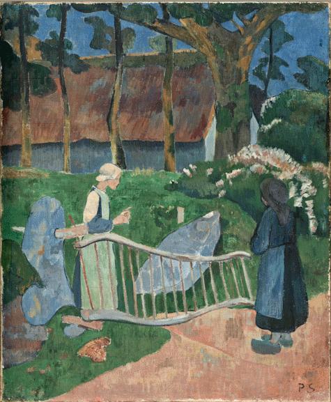 The flowered barrier, 1889 - Paul Serusier