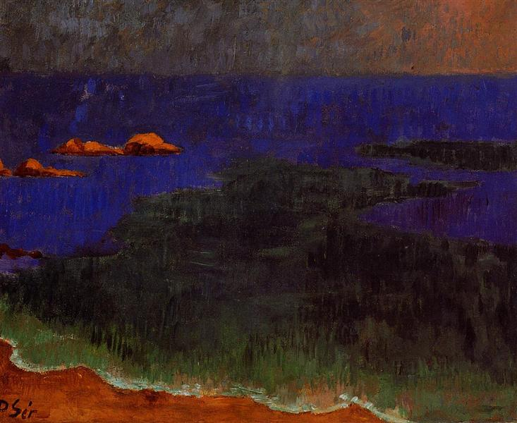 The Seat at Poldu Sunset, c.1889 - Paul Serusier