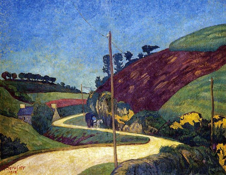 The Stagecoach Road in the Country with a Cart, 1903 - Paul Serusier