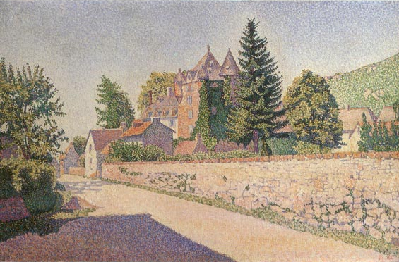 Chateau de Comblat, c.1887 - Paul Signac
