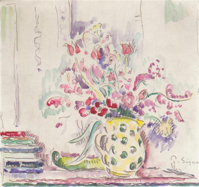 Floral still life, c.1920 - c.1924 - Paul Signac
