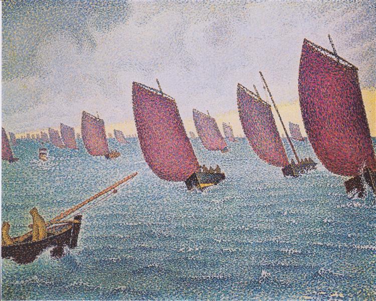Regatta in Concarneau, 1891 - Paul Signac