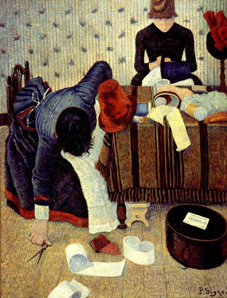 The Milliner, 1885 - Paul Signac